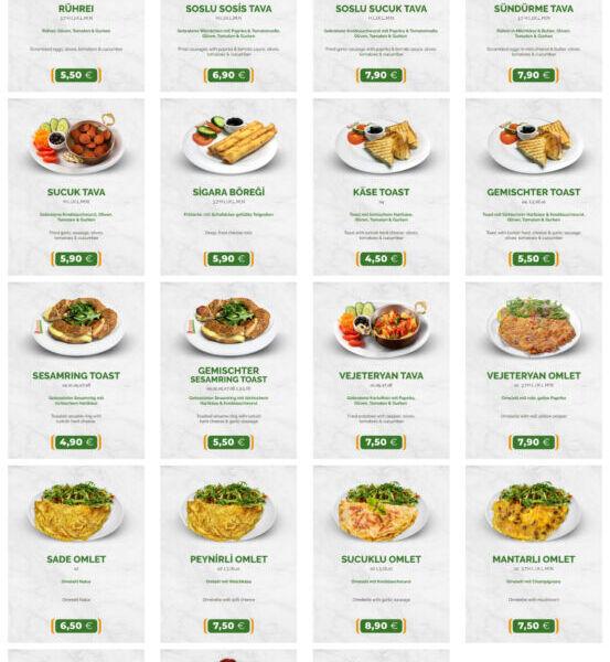 Frühstückshaus-Speisen